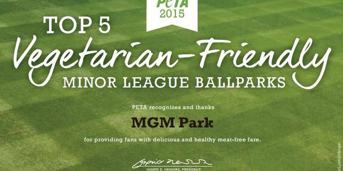 PETA honors MGM Park for vegetarian-friendly concession options