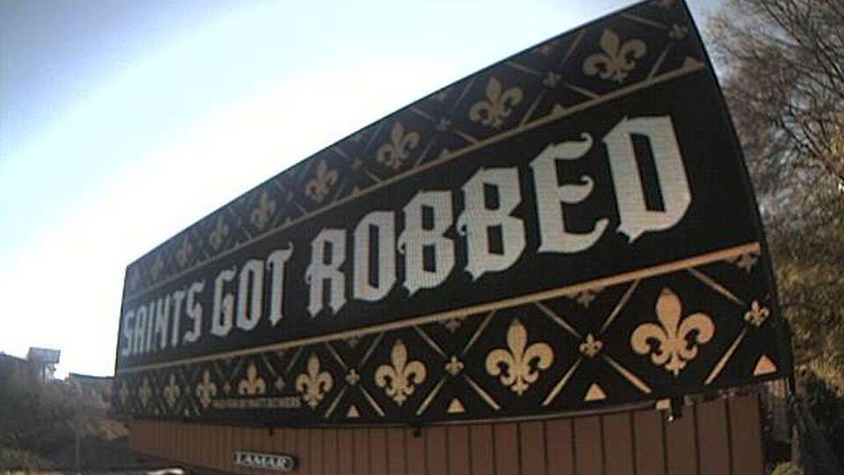 'Saints got robbed' billboards go live in downtown Atlanta
