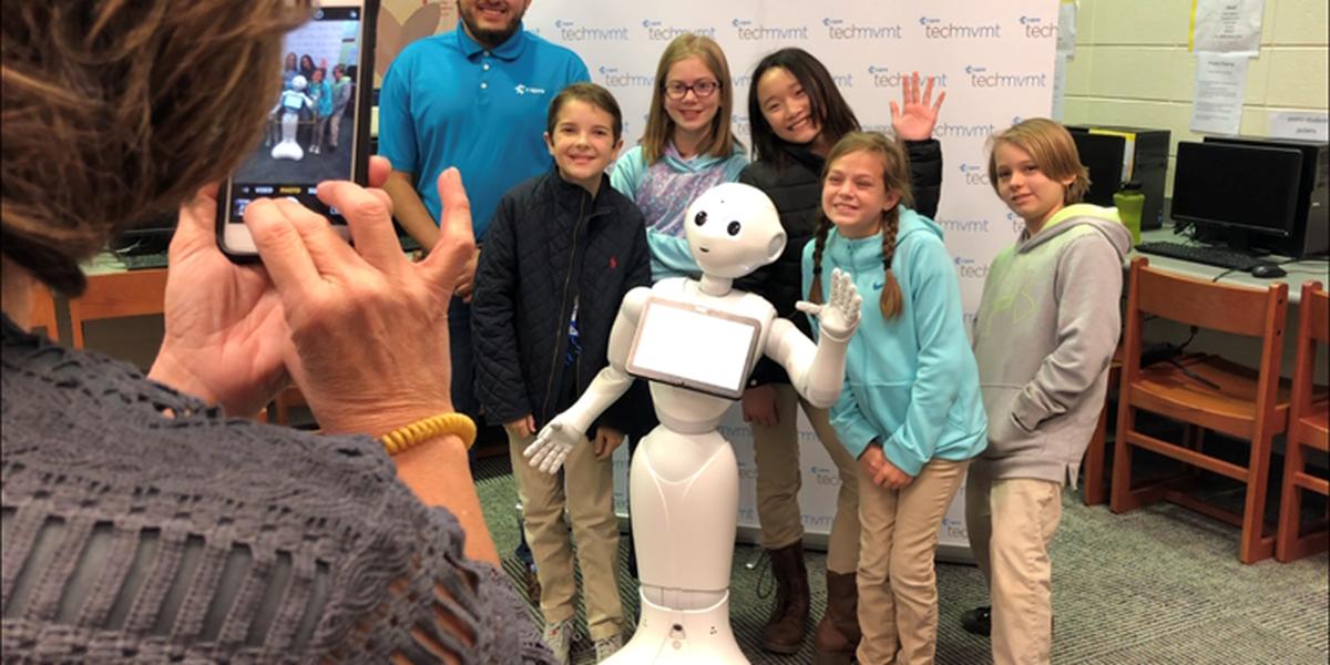 Pepper the Robot inspires St. Martin students