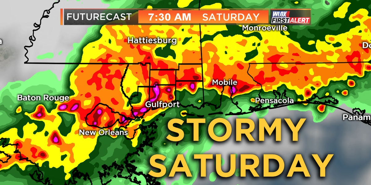 Wet start to the weekend; Severe weather risk over