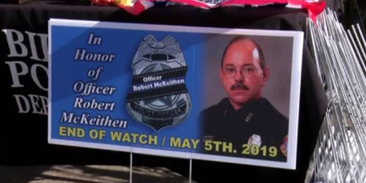 Hundreds gather to remember Officer McKeithen and pray for his family
