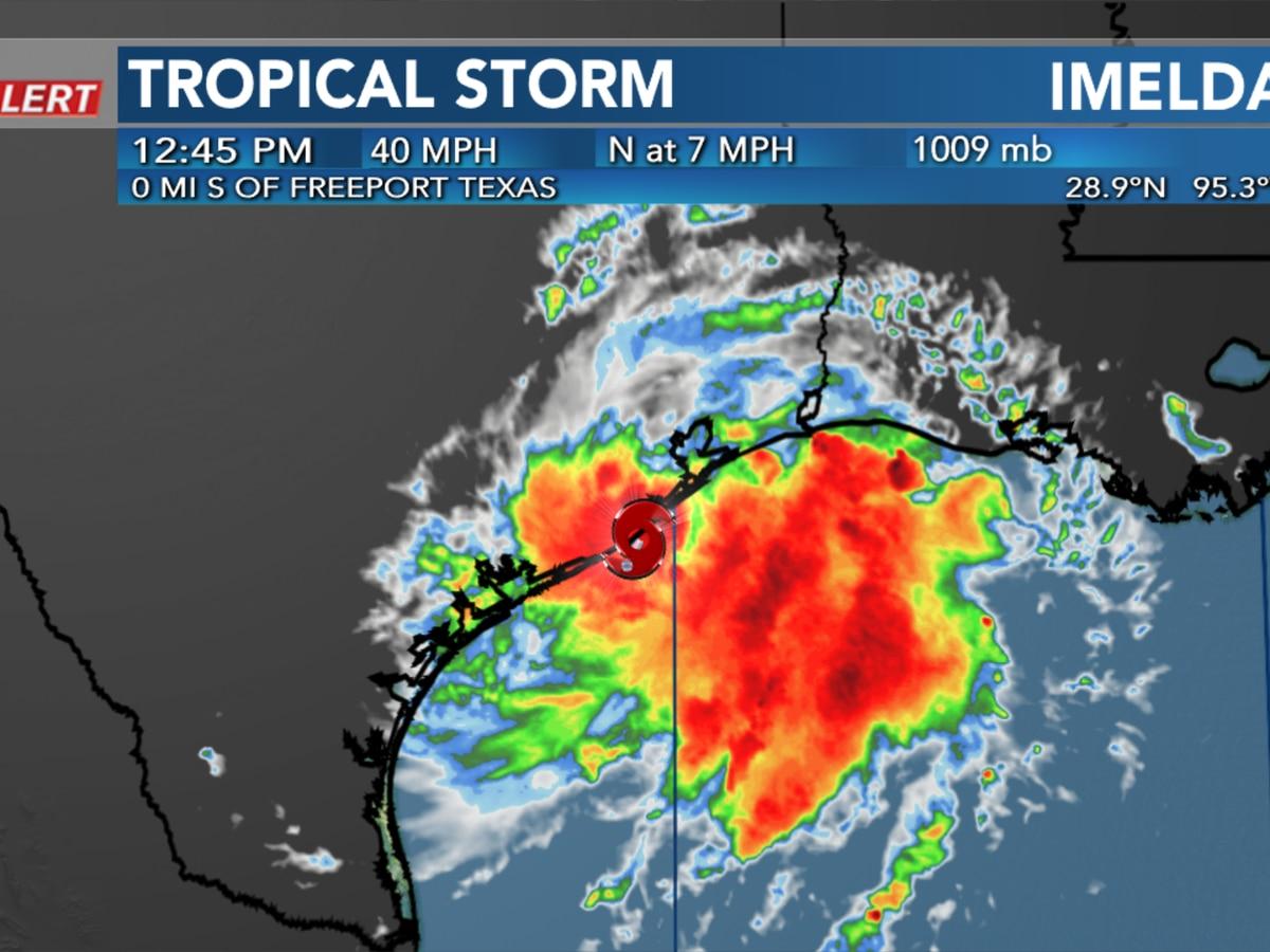 Tropical Storm Imelda forms near the Texas Coast