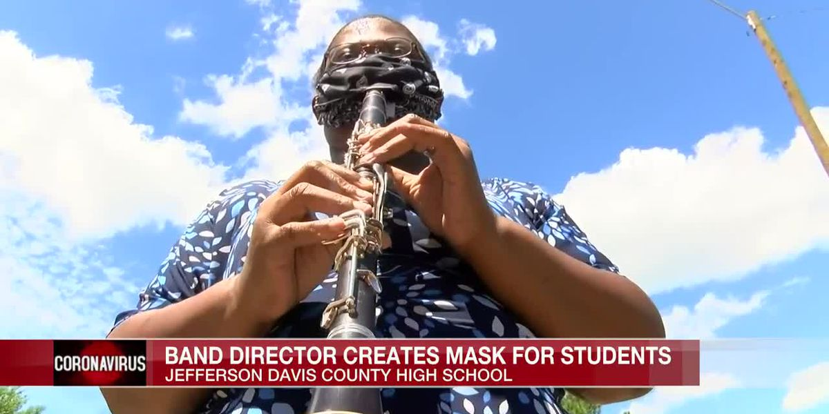 Band director creates 'performance mask' for students