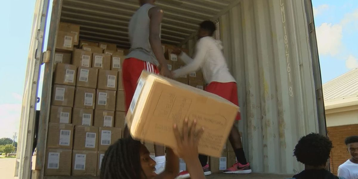 IRD unloads TOMS shoes for kids in need