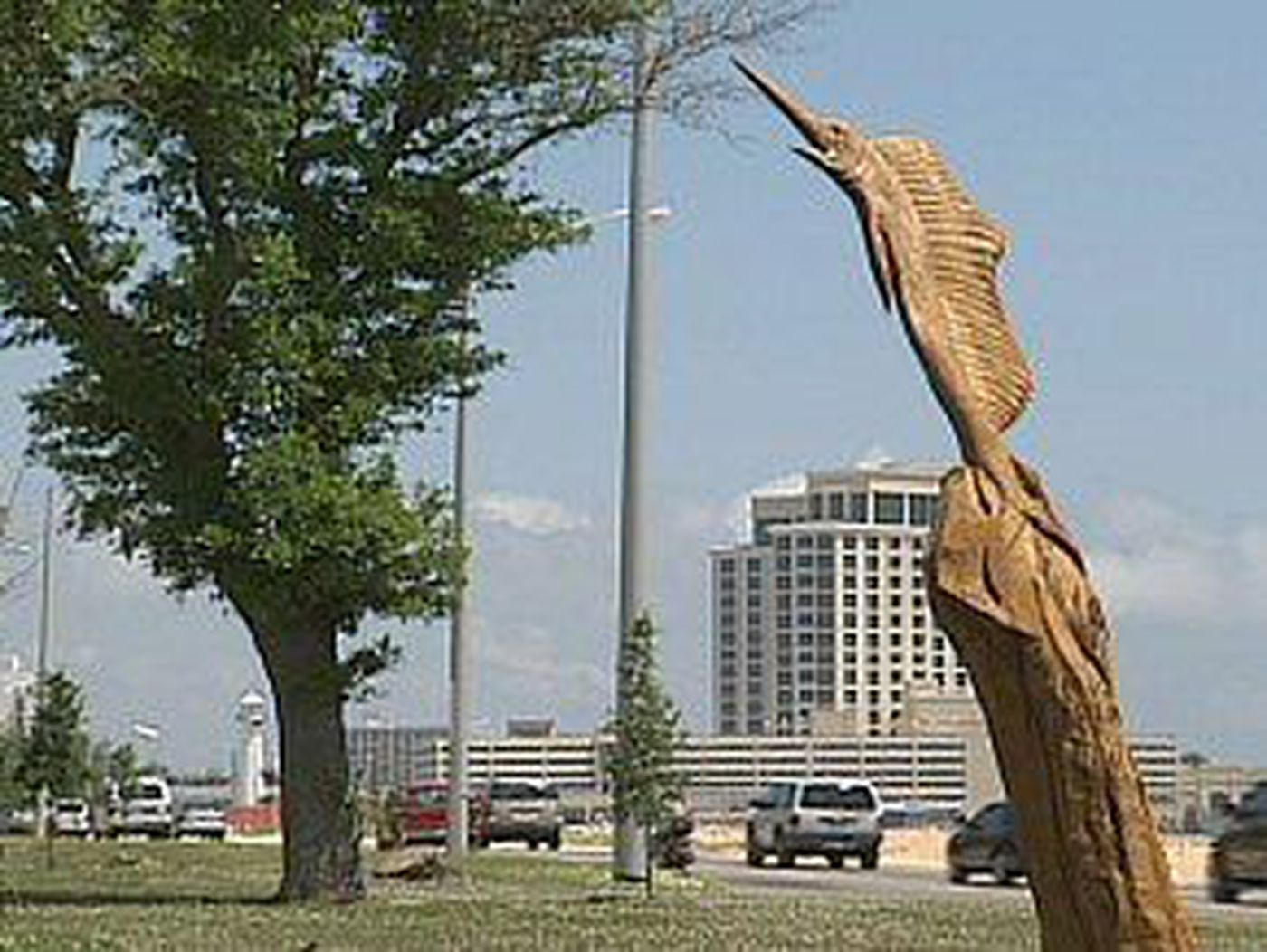 Wood carvings attracting attention along highway