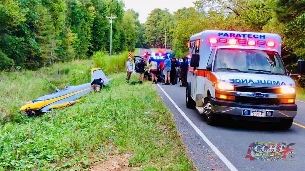 Pilot and passenger injured in plane crash heading to Meridian
