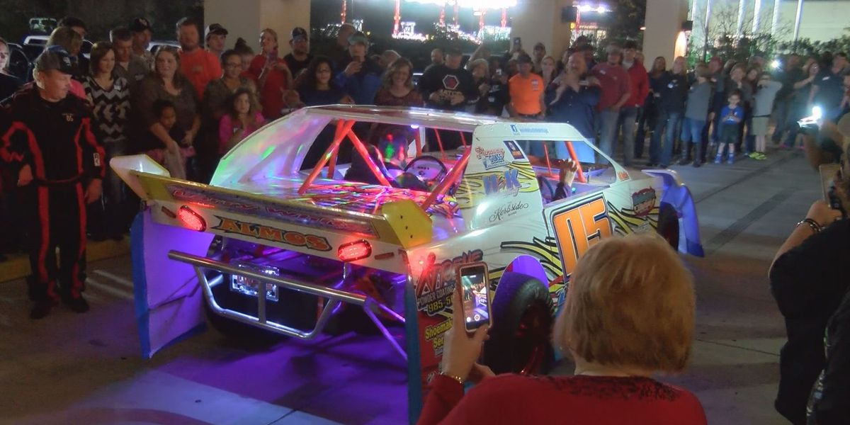 The Larry White Project car unveiled Friday at Lyman Community Center