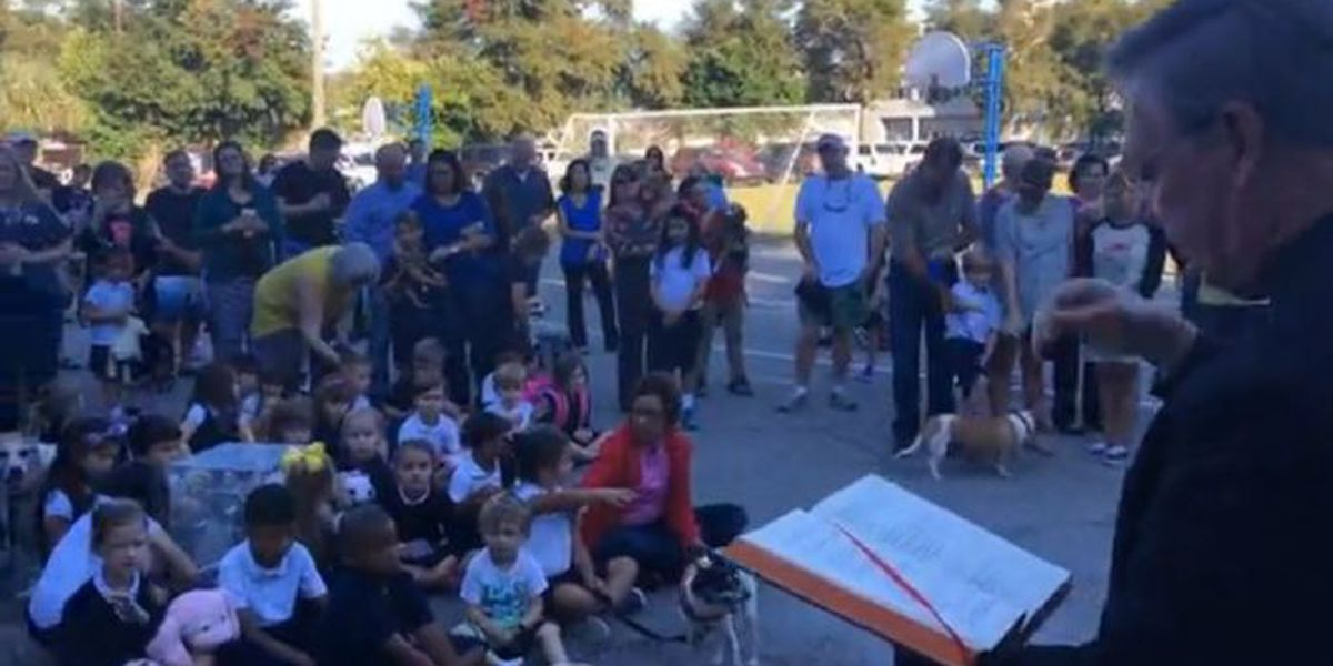 Pets blessed at Nativity BVM in Biloxi