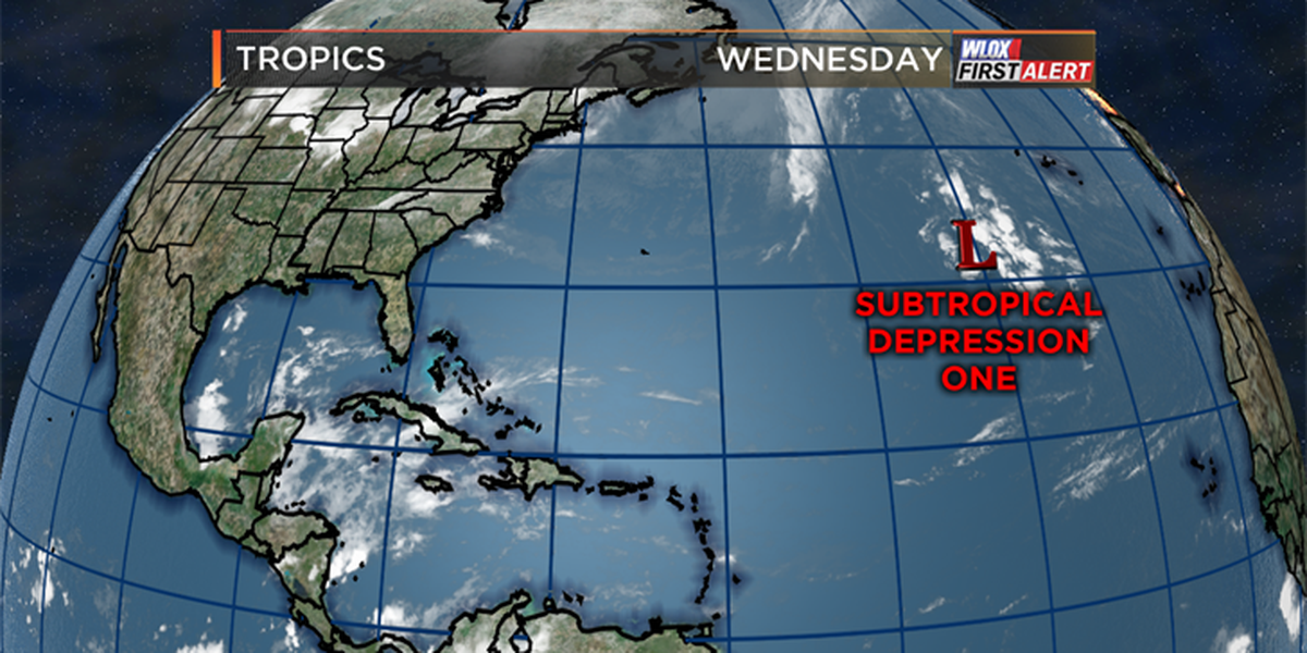 Tropics off to an early start with Subtropical Depression One