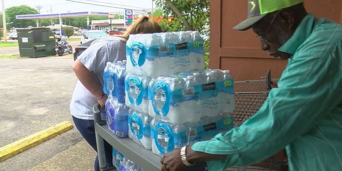 Moss Point Key Club donates 120 cases of water to Our Daily Bread