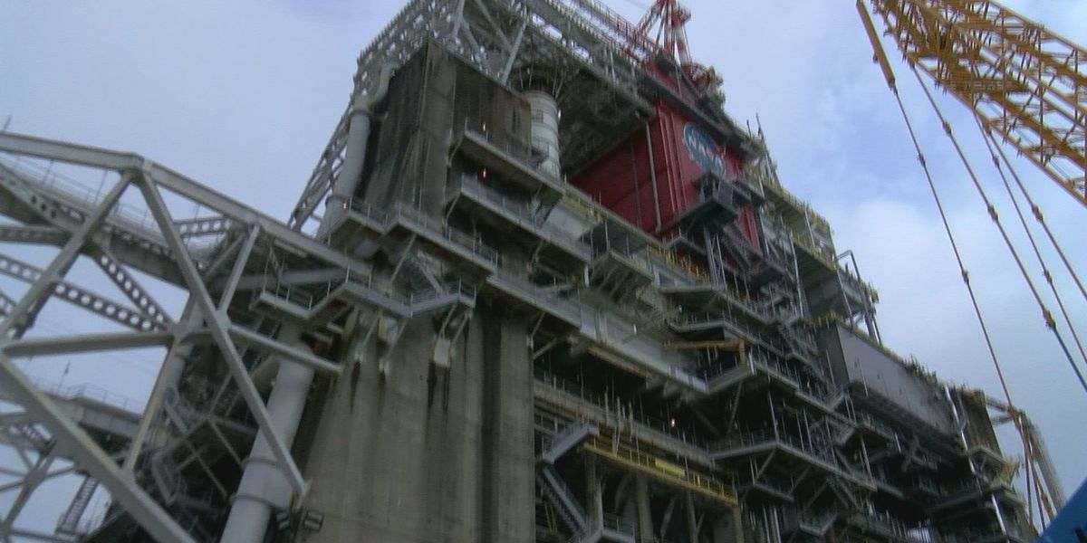SLS Core Stage Arrives at Stennis Space Center