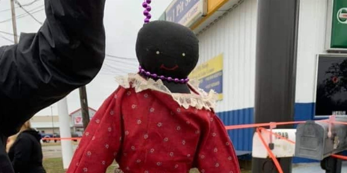 Police investigating after Facebook post shows doll hanging off beaded noose