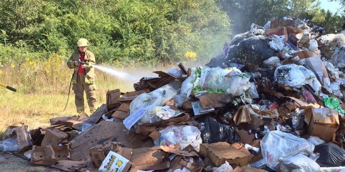 Garbage truck load catches fire in Harrison Co.