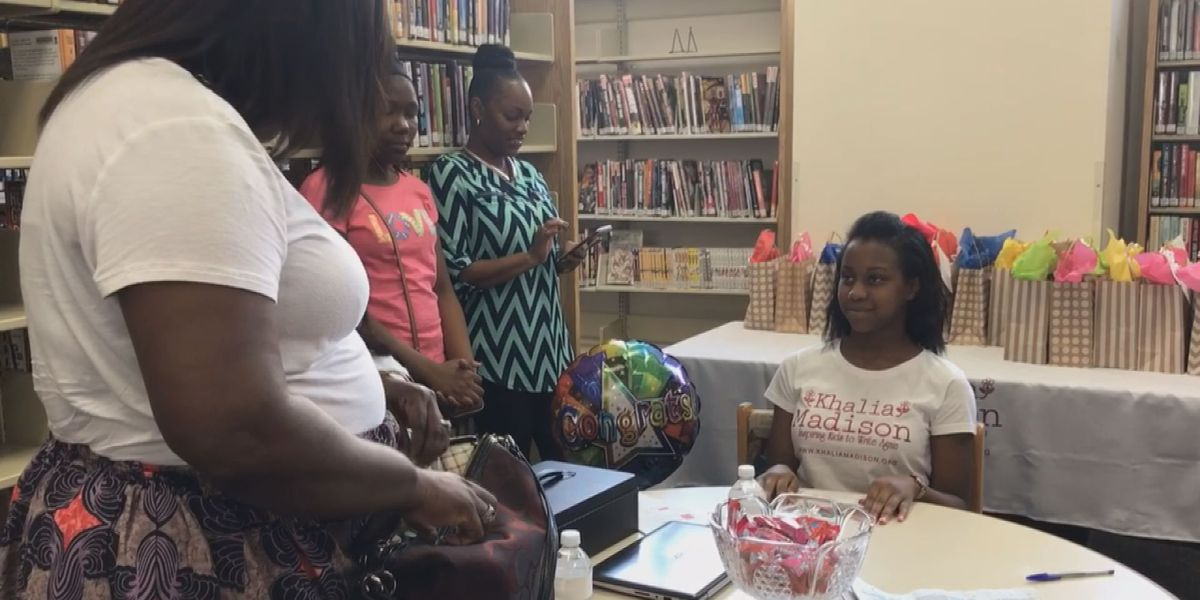 12-year-old author hosts book signing