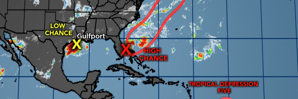 Tropical Depression Five has formed in the Atlantic