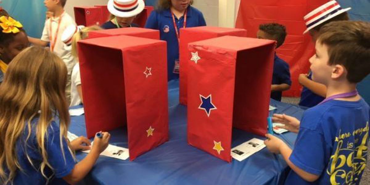 St. Martin students cast ballots for favorite presidential candidate