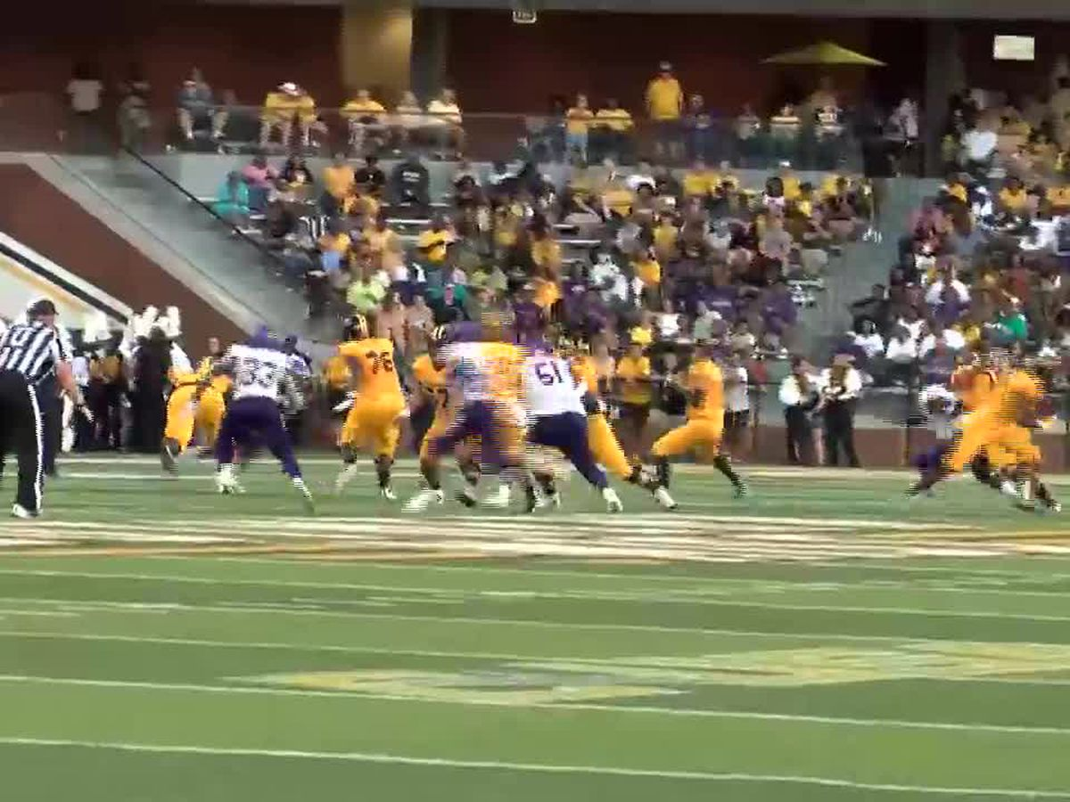Adams' historic day sparks USM's 38-10 win over Alcorn State