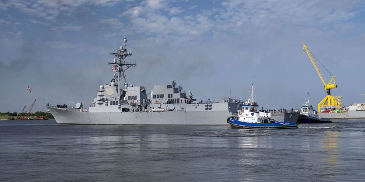 Ingalls bids farewell to the DDG 119