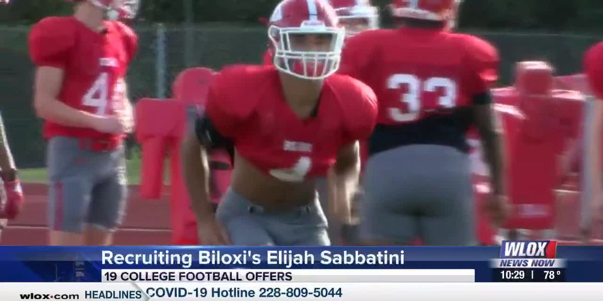 Biloxi's Elijah Sabbatini receiving a plethora of college football offers