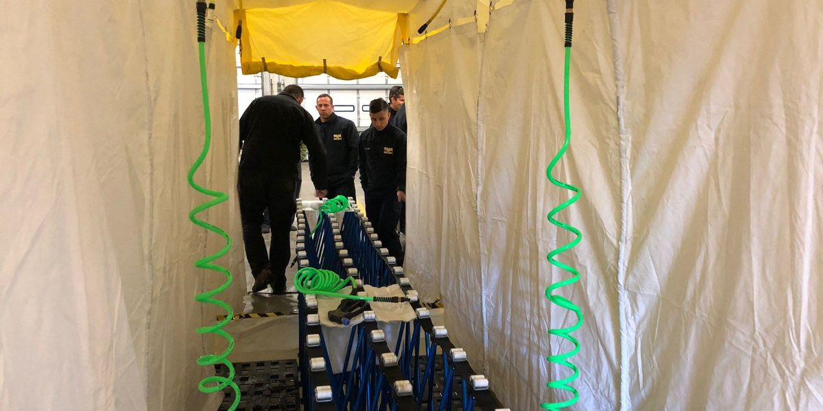 Biloxi firefighters train for chemical disasters