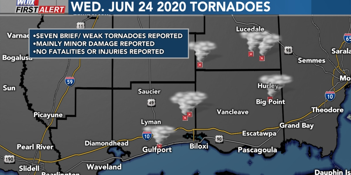 At least 7 tornadoes confirmed from Wednesday