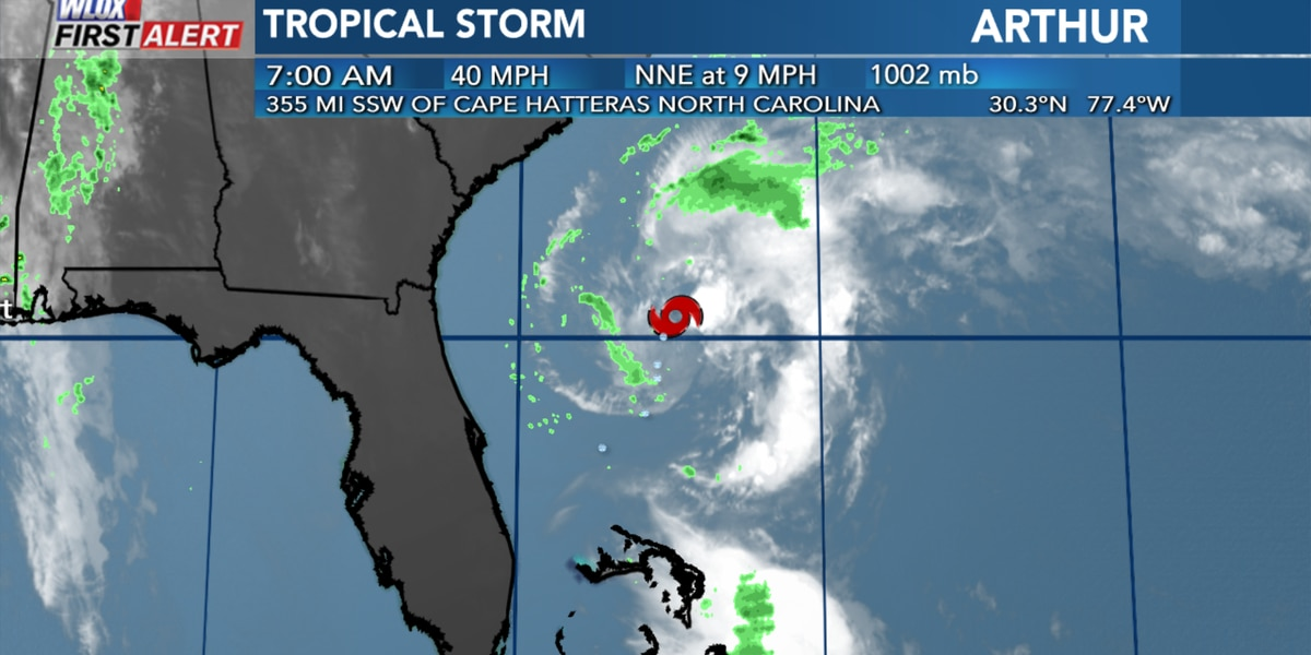 Tropical Storm Arthur forms east of Florida