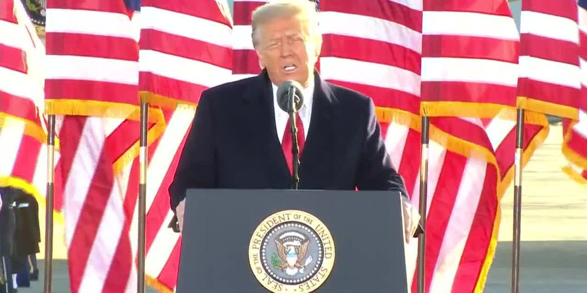 Trump wishes the new administration well in farewell speech