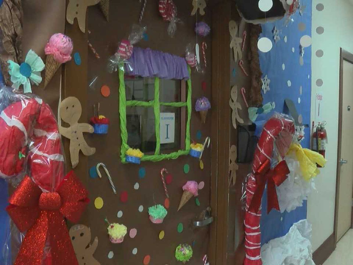 Door decorating contest designed to bring families together