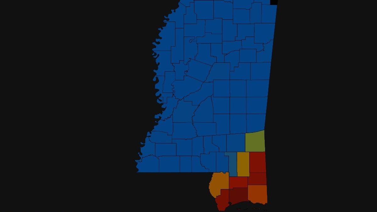 LATEST: Number of power outages across South Mississippi