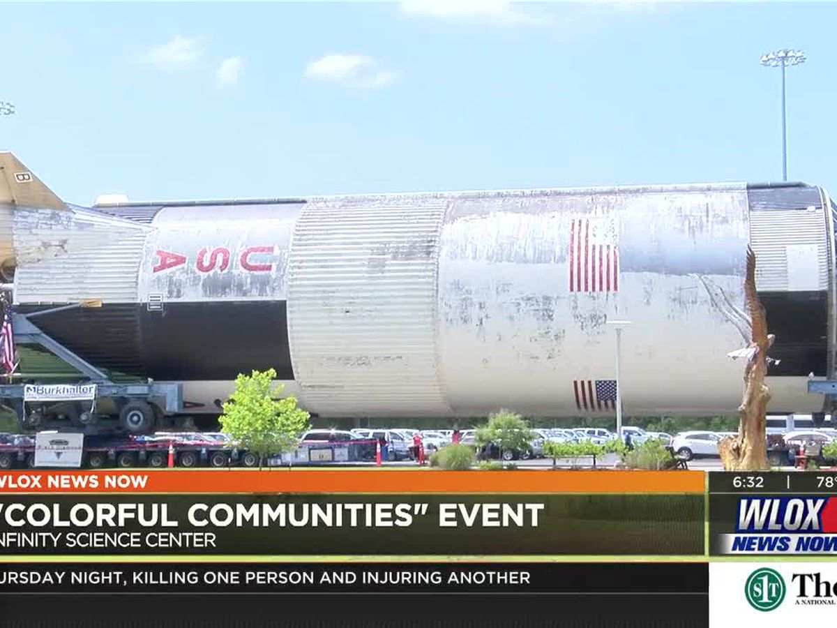 Saturn V rocket gets well-needed paint job
