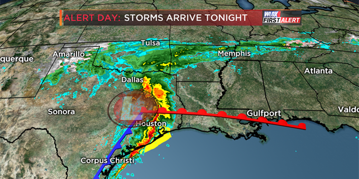 Nasty Valentine's night storms possible
