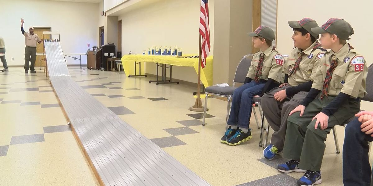 Cub Scouts zoom through the Pinewood Derby