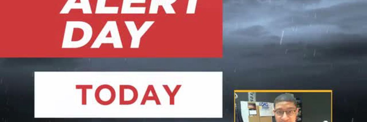 FORECAST VIDEO: 4-18-19 Alert Day thunderstorms today and tonight