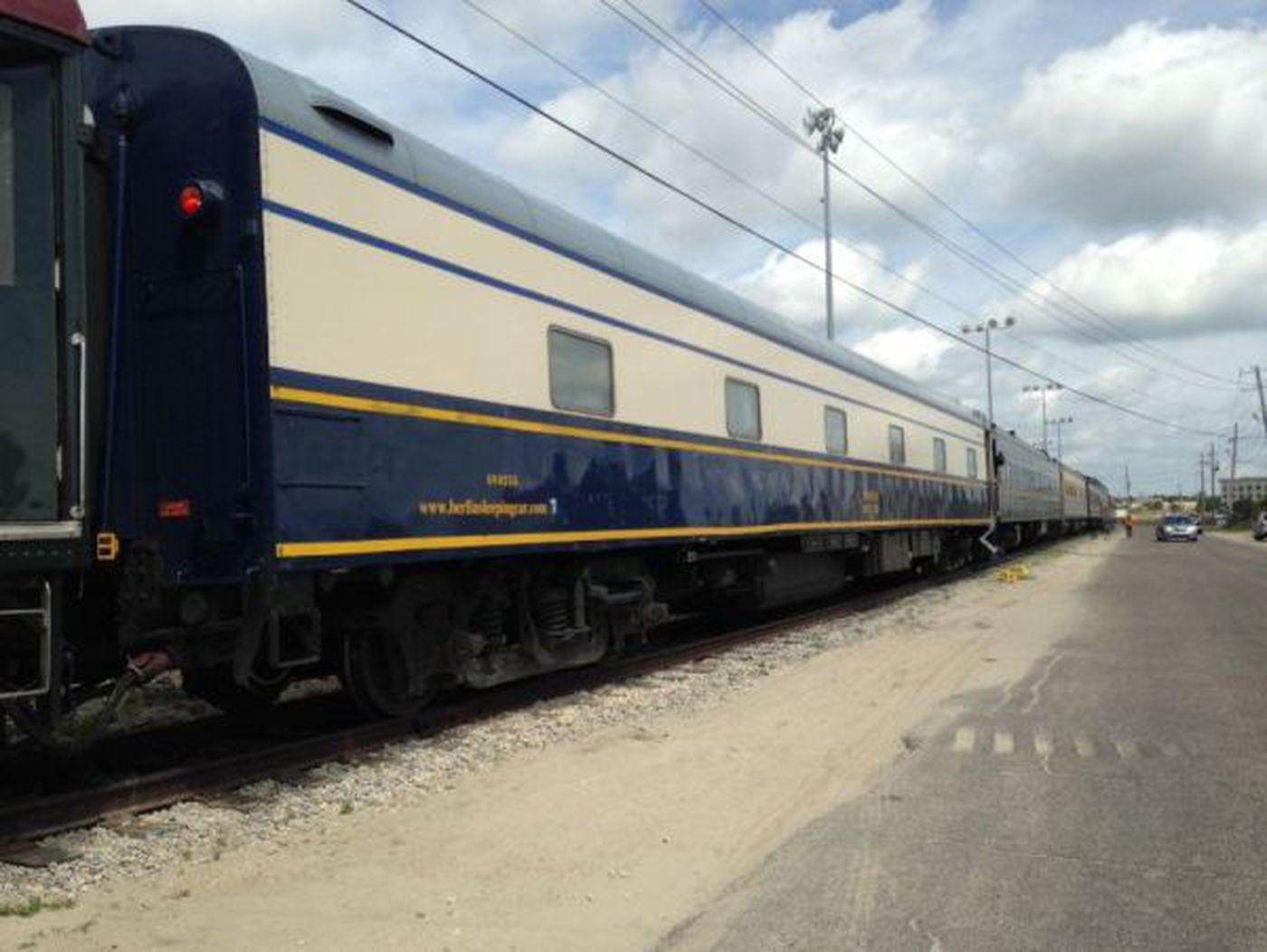 Antique Train Cars Make A Pit Stop In Gulfport