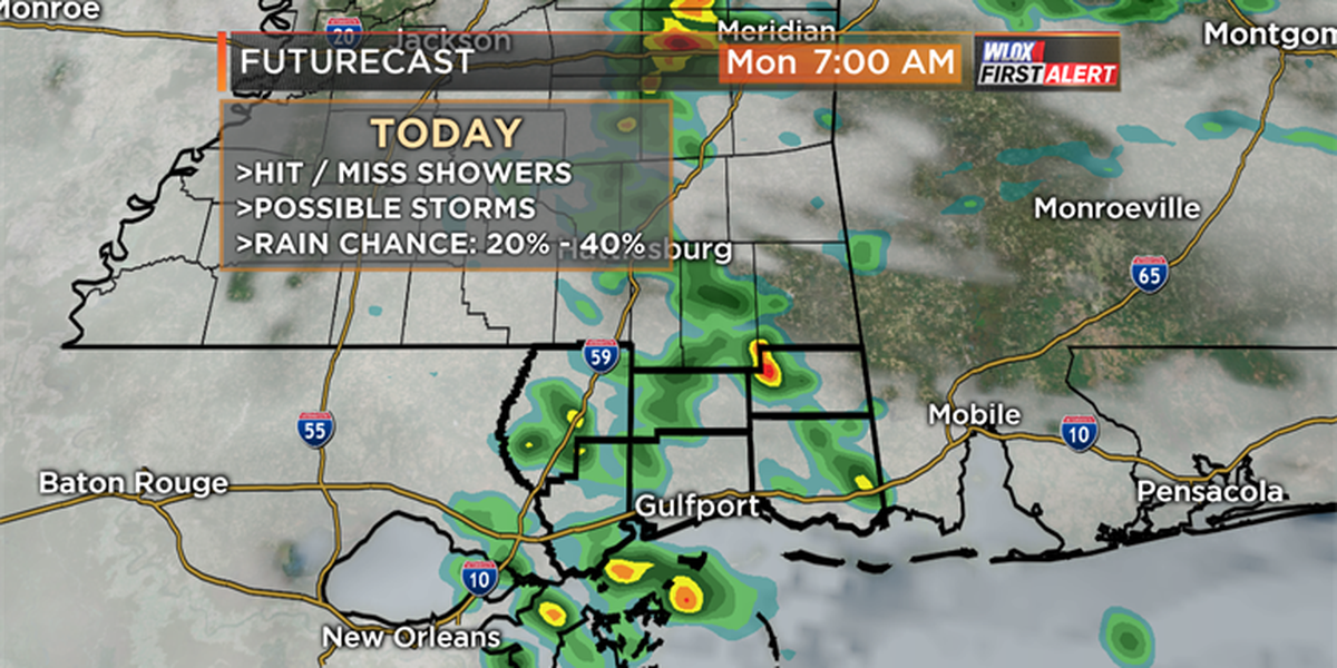 Lowering severe weather threat for Monday