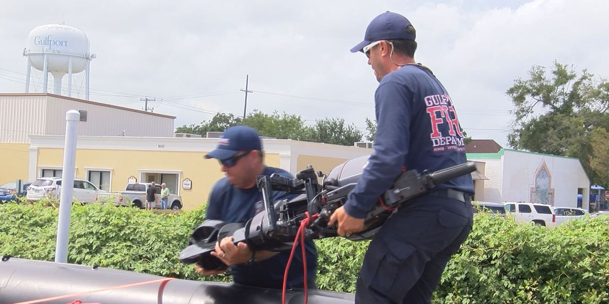Gulfport firemen return from assisting in LA flood rescues