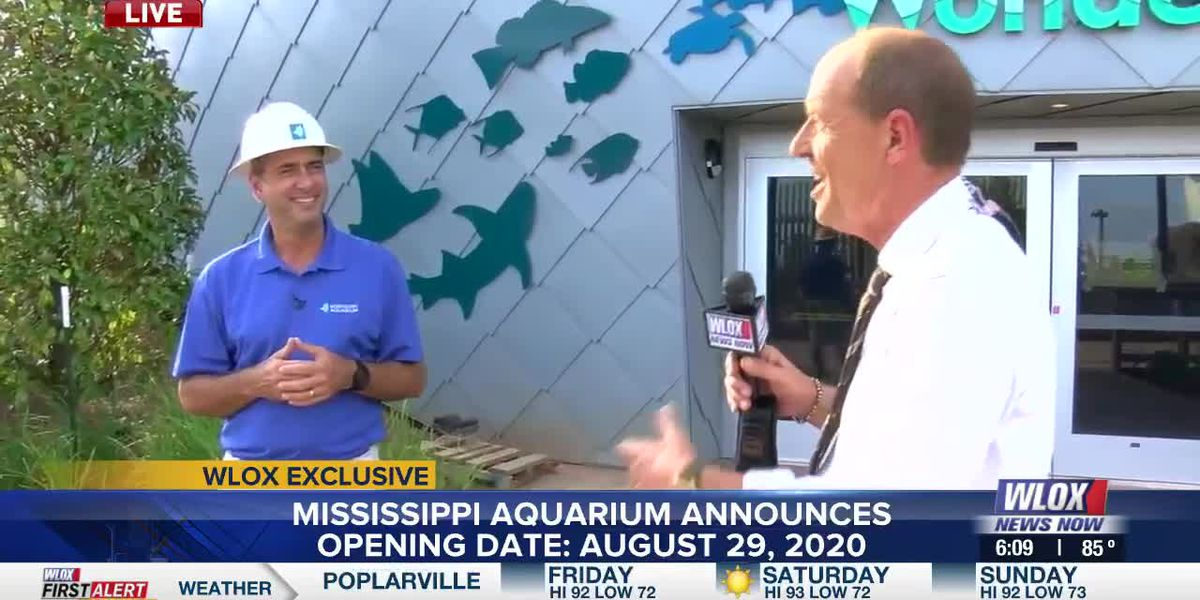 Mississippi Aquarium will open August 29th