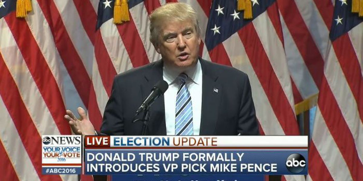WATCH LIVE: Trump introduces Pence as VP choice