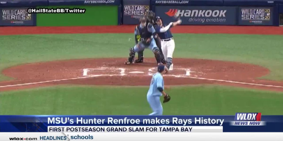 MSU's Hunter Renfroe went yard into Tampa Bay Rays history books