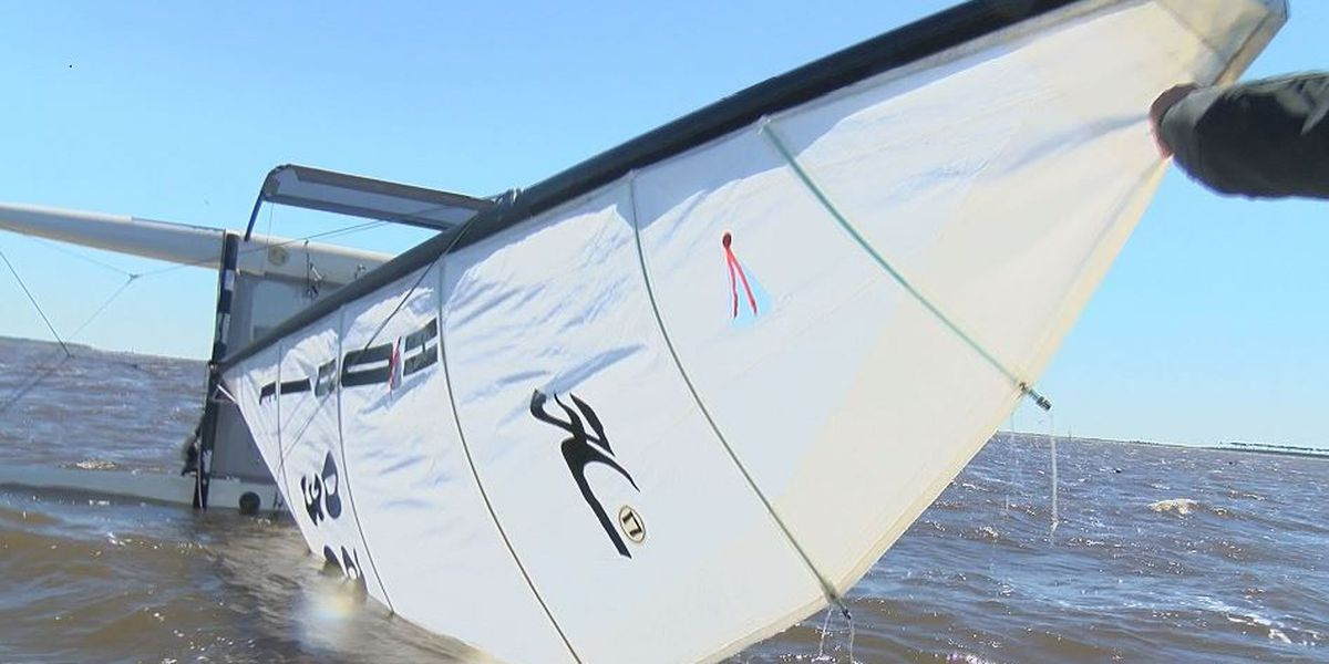 Winds up, water rough for first day of sailing championship