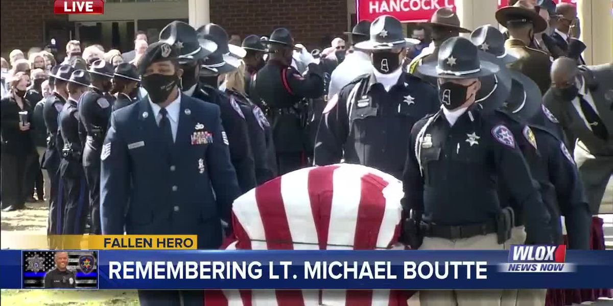 FULL SERVICE: Funeral for Lt. Boutte features full honors with 21-gun salute, end of watch call