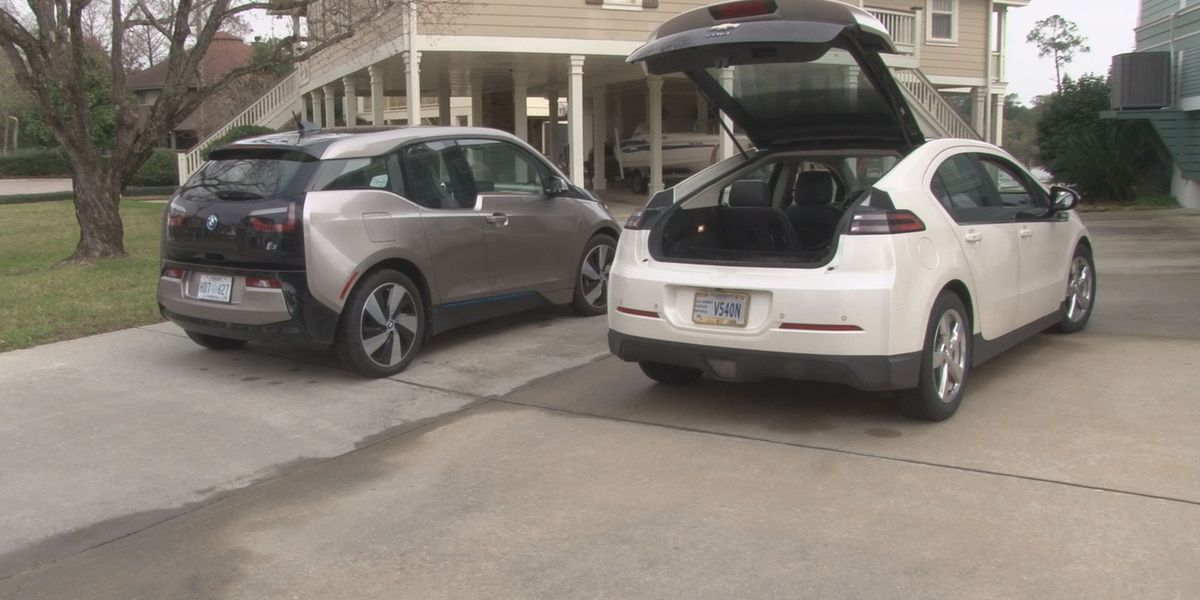 Gulfport electric car owner says he spends 1/3 of what gas powered car owners do