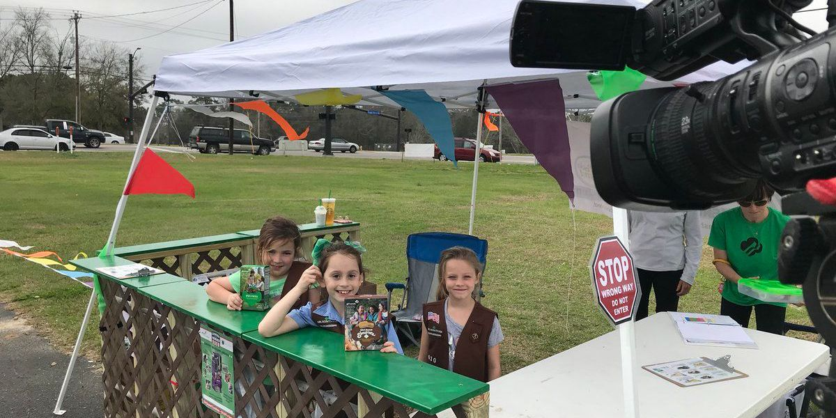 Girl Scouts create drive thru for cookie lovers