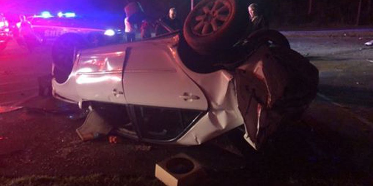 Man life-flighted to USA Medical Center after car rolls over in Jackson Co.
