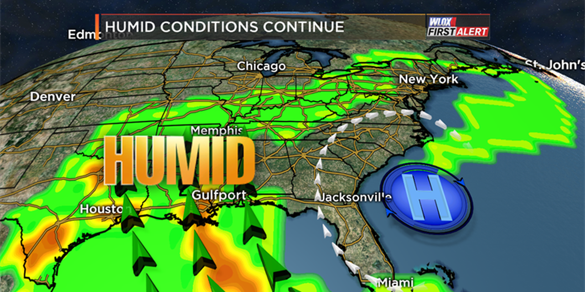 Warm and humid conditions linger this week