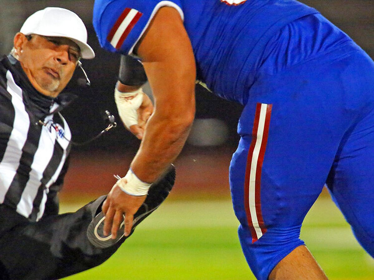 Texas prep football player attacks referee