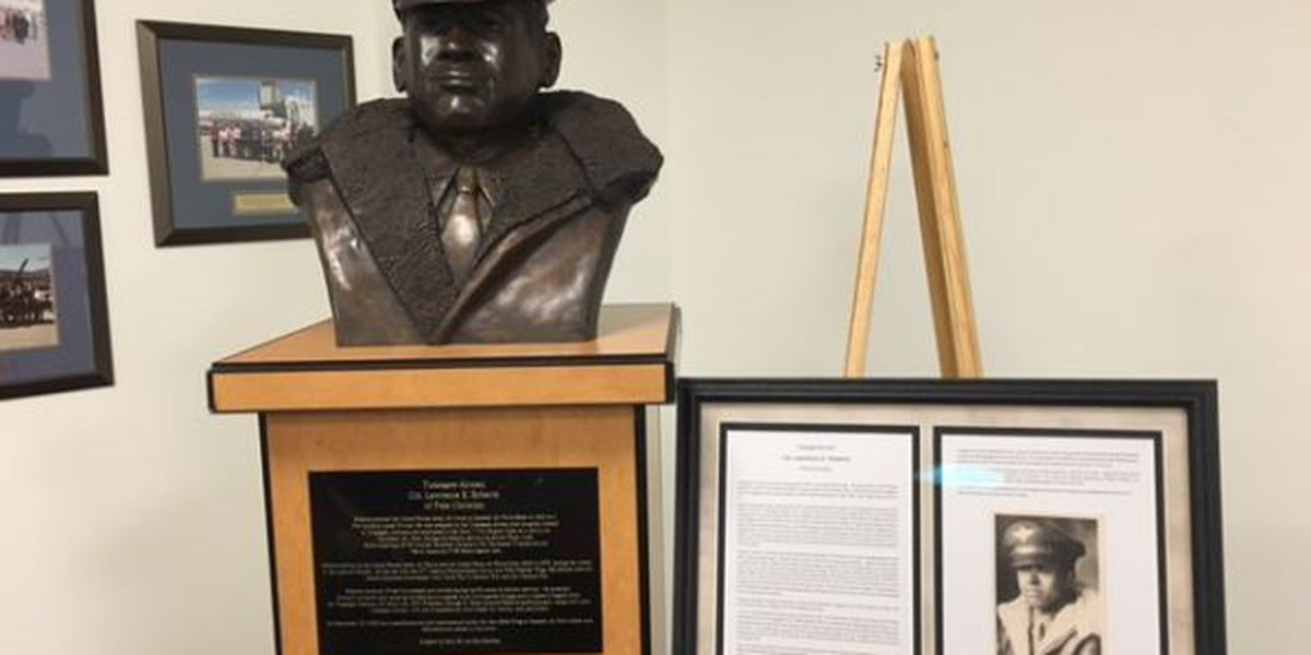 Bust of Tuskegee Airman on display at Coast airport