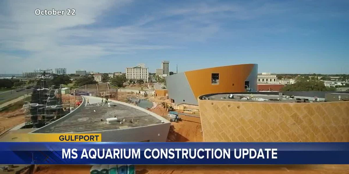 Mississippi Aquarium construction update