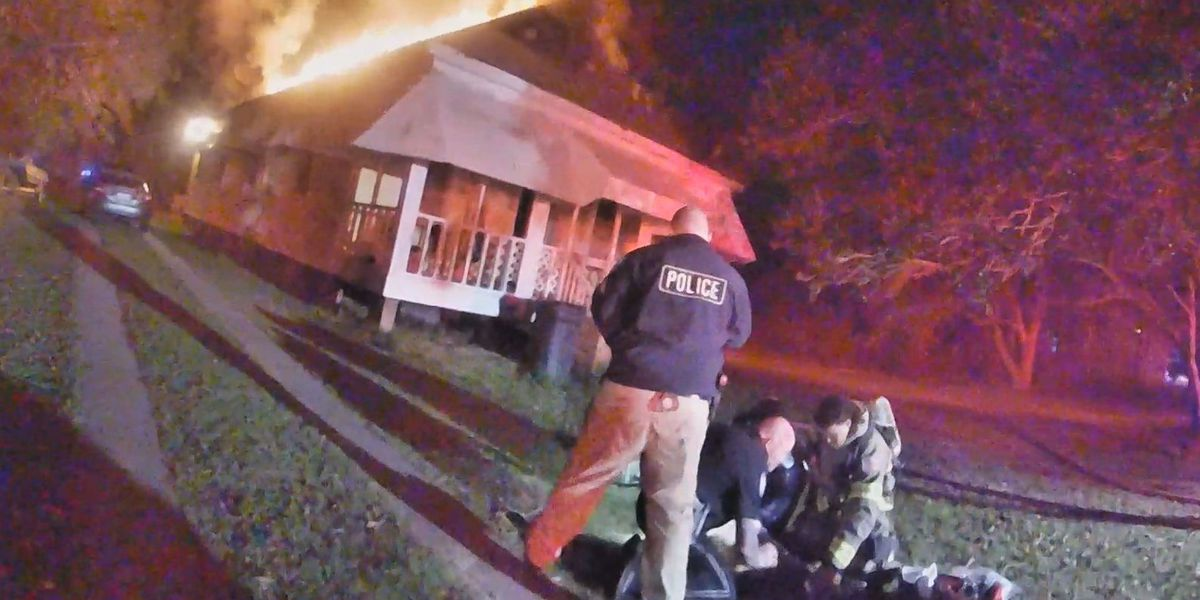 Firefighters rescue one dog from house fire, help bury one that couldn't be saved