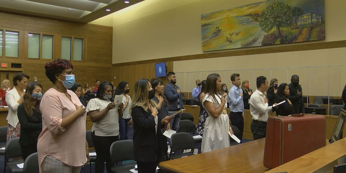 Living the American dream: Immigrants take oath of citizenship in Gulfport